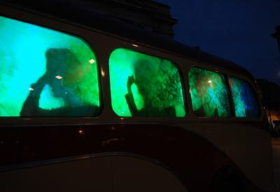 Raphael Daden | Light Sculpture LED | Nottingham Market Barton Bus